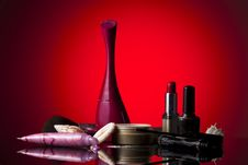 Free Cosmetics Set Stock Photography - 18140562