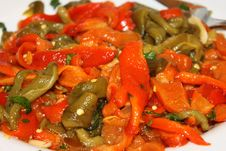 Free Pepper Salad Royalty Free Stock Image - 18140876