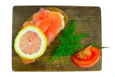 Free Smoked Salmon On Bread Royalty Free Stock Image - 18141206