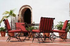 Luxury Hotel Garden Royalty Free Stock Photos