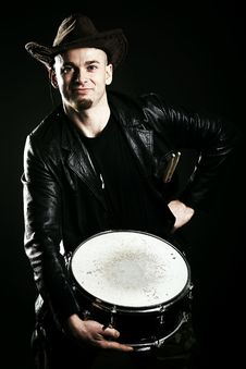 Free Portrait Of A Drummer Stock Photography - 18142052