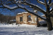 Village House In Ruins, Romania Stock Images