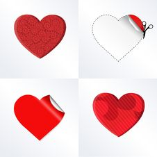 Free Hearts Set Vector Stock Images - 18142804