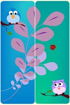 Free Bird Card Royalty Free Stock Photos - 18142998