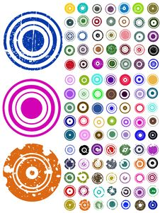 Free 105 Vector Circle Elements Stock Photography - 18143012