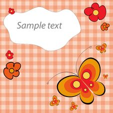 Free Butterfly Card Royalty Free Stock Photo - 18143045