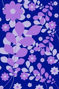 Flower Background, Blue Royalty Free Stock Photo