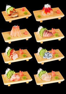 Free Sushi Set Black Stock Images - 18143494