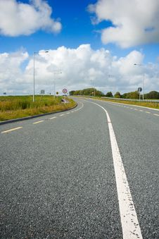 Free Motorway With Road Markings Stock Photos - 18143653