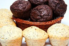 Free Basket Of Muffins Royalty Free Stock Images - 18144089