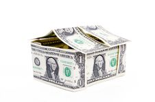 Free Big One American Dollar House Royalty Free Stock Photography - 18144227