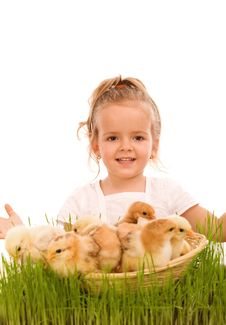 Happy Spring Girl Royalty Free Stock Photo
