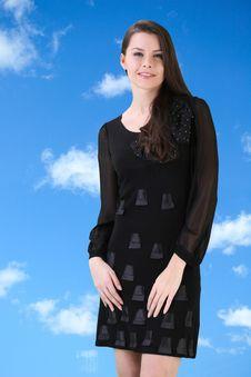 Free Beautiful Woman In Black Stock Photo - 18144710