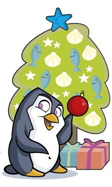 Penguin Tree Stock Photo