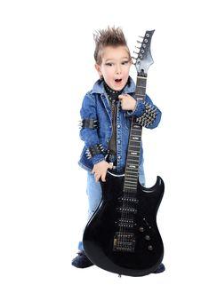 Free Boy Guitarist Stock Photos - 18144993