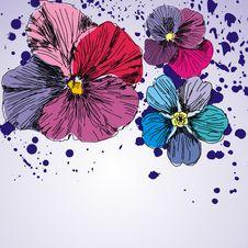 Free Floral  Postcard Royalty Free Stock Photos - 18145428