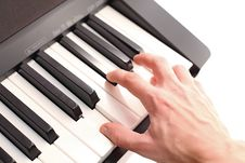 Free Game On The Piano Royalty Free Stock Photography - 18145517