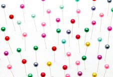 Free Colorful Pins Royalty Free Stock Images - 18146719