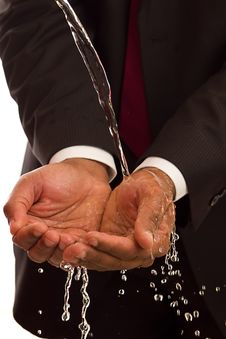 Free Water On Hands Royalty Free Stock Image - 18146736