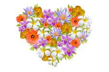 Free Colorful Flower Heart Stock Photo - 18146970