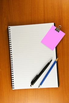 Paper Clip Paper Note Notebook Stock Photography