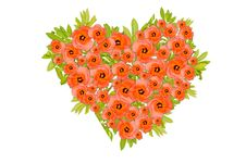 Free Flower Heart, Valentine Day Royalty Free Stock Photography - 18147147
