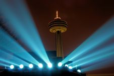 Free Niagara Skylon Tower At Night Royalty Free Stock Image - 18147596