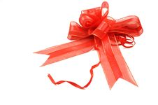 Free Red Ribbon With Bow Stock Photography - 18147782
