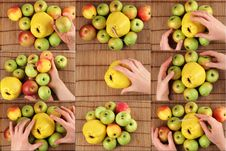 Free Panel Hands With Fruit Stock Photos - 18147833