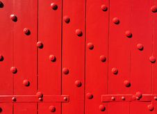 Free Red Door Royalty Free Stock Photography - 18148277