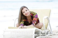 Free Young Woman On Beach Royalty Free Stock Photo - 18148405