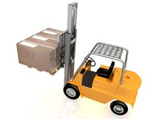 Free Forklift With Boxes Royalty Free Stock Image - 18148466