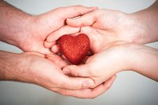 Free Red Heart In Hands Royalty Free Stock Images - 18148729