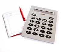 Free Great Calculator And Notebook For Reference Daily Stock Image - 18148901