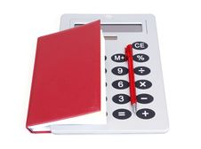 Free Great Calculator And Red Notebook For Reference Royalty Free Stock Photo - 18148935