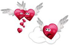 Free Three Flying Hearts Stock Image - 18149691