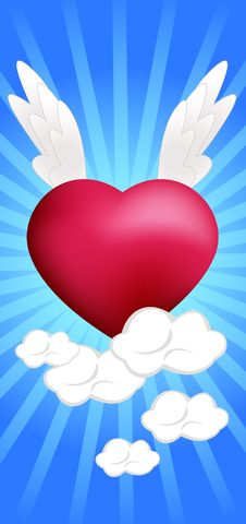 Free Heart On The Clouds Royalty Free Stock Photo - 18149725