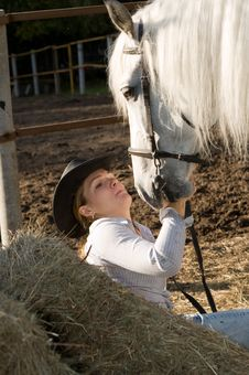 Free Young Woman With Her Horse Royalty Free Stock Photo - 18149925