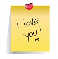 Free Love You Paper Note Royalty Free Stock Photos - 18149968