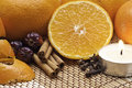 Free Oranges,cinnamon And Spices With Candle Stock Images - 18152554
