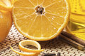 Free Close Up Halved Orange With Rose-apple Royalty Free Stock Image - 18152656