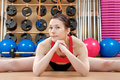 Free Young Woman In A Health Club Royalty Free Stock Photography - 18154207