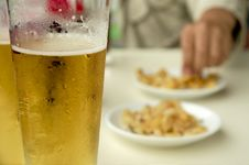Free Beer And Lupin Beans Stock Photos - 18150853
