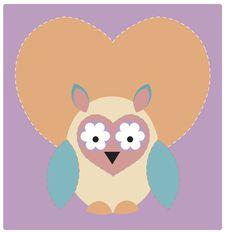 Owl In Love Stock Image