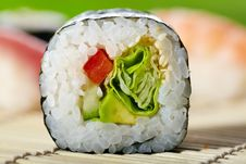 Free Asian Maki Sushi Royalty Free Stock Image - 18151936