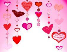 Free Heart Background Royalty Free Stock Photos - 18152038
