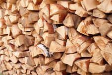 Free A Stack Of Birch Wood Royalty Free Stock Photo - 18152145