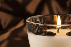 Free Close Up Of Burning Coffee Candle Stock Images - 18152774