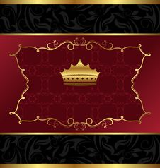 Free Ornate Decorative Background With Crown Stock Photo - 18153180