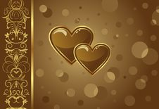 Free Congratulation Card With Heart Royalty Free Stock Photography - 18153317